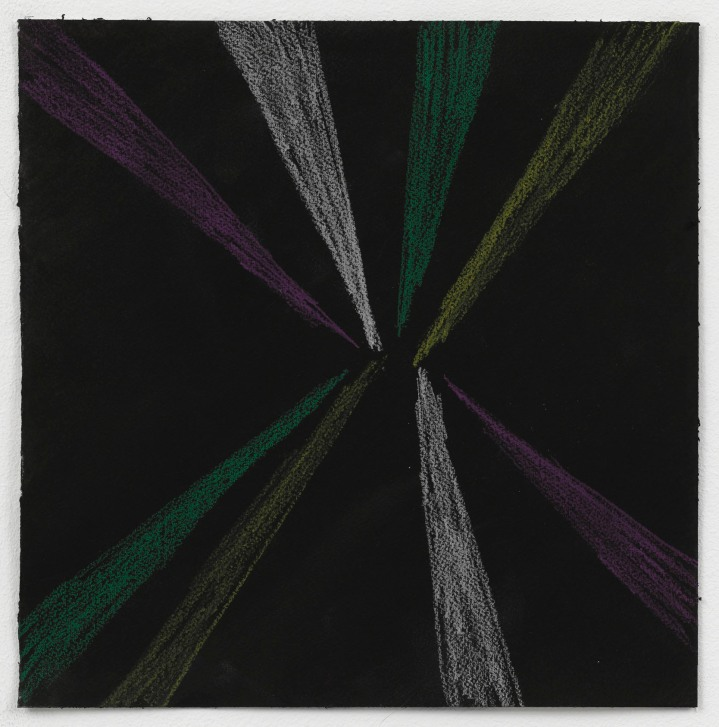 Light, Purple, White, Green and Yellow, 2010, black ink + pencil on paper, 30x30cm